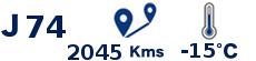 Date Distance Temperature J74